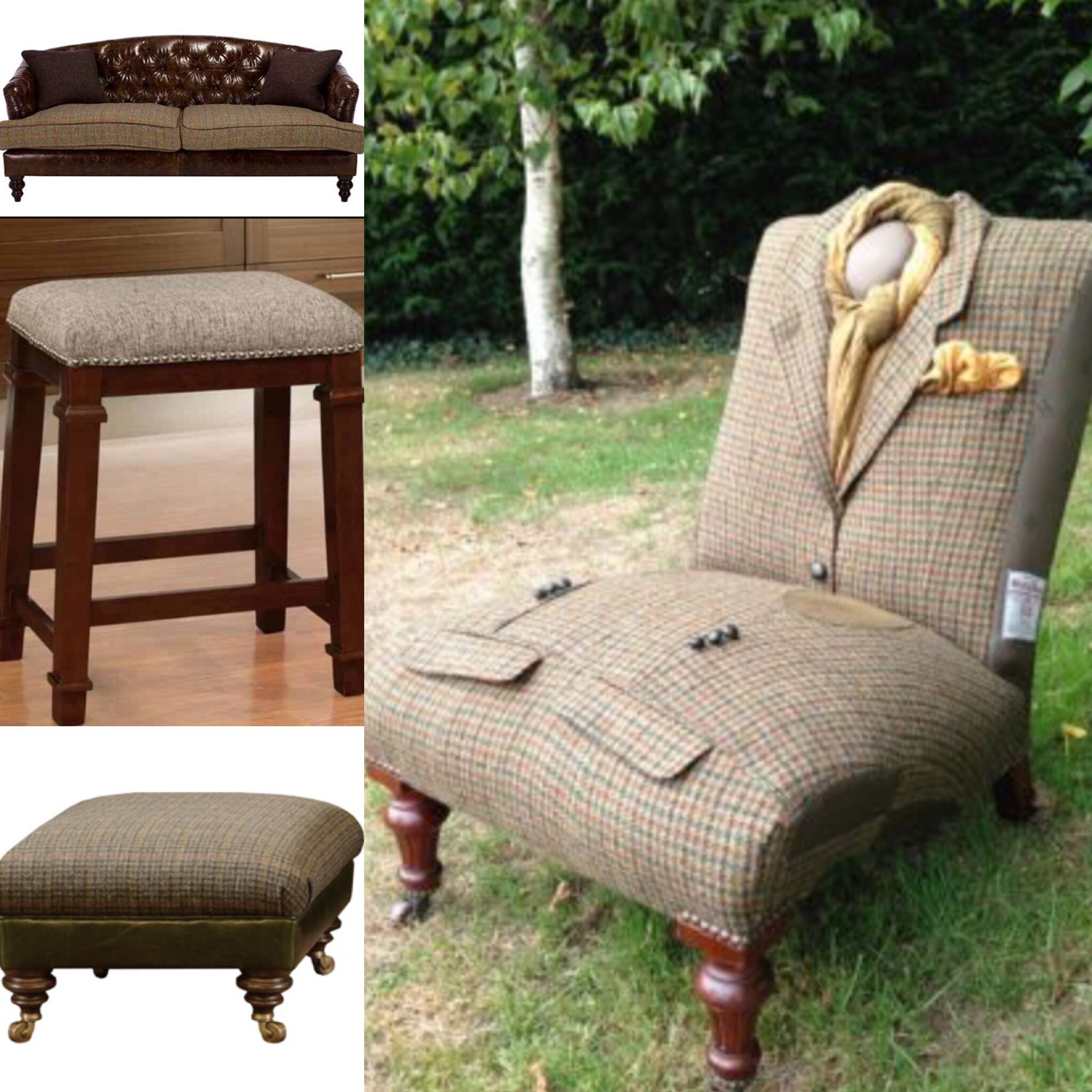 Terrific Upcycle Your Tweed Craig Featherstone Lamtechconsult Wood Chair Design Ideas Lamtechconsultcom