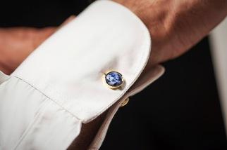 Featherstone London Luxury Sodalite & Gold Cufflinks WAS £90 - Black Friday deal £45