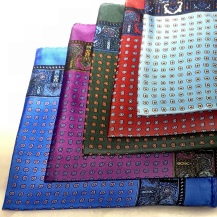 100% silk Luxury Bohemian hand rolled pocket square WAS £50 - Black Friday deal £25